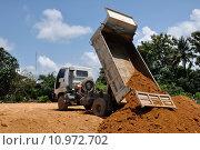 Купить «Dump truck at work.», фото № 10972702, снято 22 апреля 2018 г. (c) PantherMedia / Фотобанк Лори