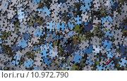 Купить «Pieces of Jigsaw Puzzle / Background», фото № 10972790, снято 23 марта 2019 г. (c) PantherMedia / Фотобанк Лори