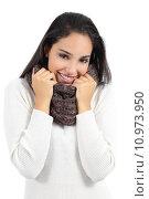 Купить «Beautiful arab woman warmly clothed grabbing a scarf», фото № 10973950, снято 19 января 2019 г. (c) PantherMedia / Фотобанк Лори