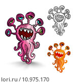 Купить «Halloween monsters isolated spooky creatures set.», иллюстрация № 10975170 (c) PantherMedia / Фотобанк Лори