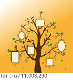 Vintage memories tree. Стоковая иллюстрация, иллюстратор Cienpies Design / PantherMedia / Фотобанк Лори
