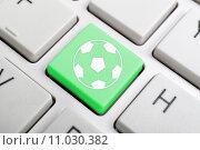 Купить «Football key on keyboard», фото № 11030382, снято 15 июня 2019 г. (c) PantherMedia / Фотобанк Лори