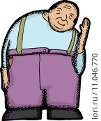 Купить «Smiling Hunchback Man», иллюстрация № 11046770 (c) PantherMedia / Фотобанк Лори
