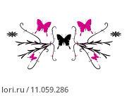 Купить «wall butterfly tattoo butterflies tendrils», фото № 11059286, снято 16 октября 2018 г. (c) PantherMedia / Фотобанк Лори