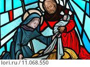 Купить «Nativity stained glass window.», фото № 11068550, снято 20 ноября 2018 г. (c) PantherMedia / Фотобанк Лори