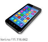 Купить «Smartphone Touchscreen HD - apps icons interface», иллюстрация № 11116662 (c) PantherMedia / Фотобанк Лори