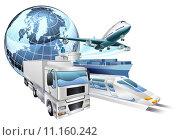 Купить «Logistics transport globe concept», иллюстрация № 11160242 (c) PantherMedia / Фотобанк Лори