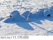 Купить «Stones on snow meadow», фото № 11170050, снято 23 марта 2019 г. (c) PantherMedia / Фотобанк Лори