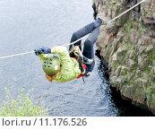 Купить «tyrolean traverse», фото № 11176526, снято 23 мая 2019 г. (c) PantherMedia / Фотобанк Лори