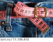 Купить «Jeans and centimeter», фото № 11196410, снято 18 декабря 2018 г. (c) PantherMedia / Фотобанк Лори