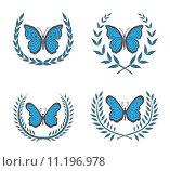 Купить «Wreaths & butterfly», иллюстрация № 11196978 (c) PantherMedia / Фотобанк Лори
