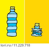 Купить «Compacted plastic bottle», фото № 11229718, снято 20 июня 2018 г. (c) PantherMedia / Фотобанк Лори