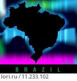 Купить «map of brazil with borders in bright colors», фото № 11233102, снято 25 июня 2019 г. (c) PantherMedia / Фотобанк Лори