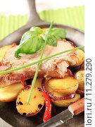 Купить «Roasted pork chop and potatoes», фото № 11279290, снято 19 марта 2019 г. (c) PantherMedia / Фотобанк Лори
