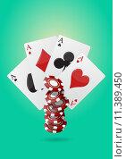 Купить «ace poker», фото № 11389450, снято 15 декабря 2018 г. (c) PantherMedia / Фотобанк Лори
