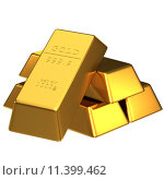 Купить «Set of gold bars isolated for adv or others purpose use», фото № 11399462, снято 19 апреля 2019 г. (c) PantherMedia / Фотобанк Лори