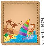 Купить «Parchment with travel theme 5», иллюстрация № 11496374 (c) PantherMedia / Фотобанк Лори