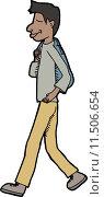 Купить «Teenager Walking», иллюстрация № 11506654 (c) PantherMedia / Фотобанк Лори