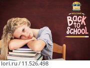 Купить «Composite image of tired teeenager sleeping in a library», фото № 11526498, снято 19 октября 2019 г. (c) Wavebreak Media / Фотобанк Лори