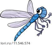 Купить «dragonfly insect cartoon illustration», иллюстрация № 11546574 (c) PantherMedia / Фотобанк Лори
