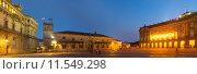 Obradoiro Square in evening. Стоковое фото, фотограф Яков Филимонов / Фотобанк Лори
