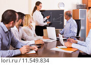 Купить «Working meeting at office», фото № 11549834, снято 18 февраля 2019 г. (c) Яков Филимонов / Фотобанк Лори