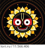 Купить «Jagannath. Indian God of the Universe.», иллюстрация № 11566406 (c) PantherMedia / Фотобанк Лори