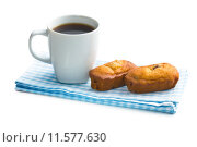 Купить «sweet dessert and coffee cup», фото № 11577630, снято 16 сентября 2019 г. (c) PantherMedia / Фотобанк Лори