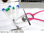 Купить «stethoscope and labtop and other medical object», фото № 11585958, снято 20 сентября 2018 г. (c) PantherMedia / Фотобанк Лори