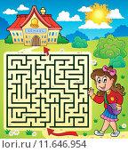 Купить «Maze 3 with schoolgirl», иллюстрация № 11646954 (c) PantherMedia / Фотобанк Лори