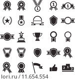 Купить «Award icons on white background», иллюстрация № 11654554 (c) PantherMedia / Фотобанк Лори