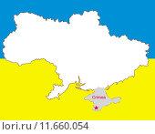 Купить «ukraine vector map crimea peninsula», иллюстрация № 11660054 (c) PantherMedia / Фотобанк Лори
