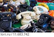 Купить «Vintage telephones», фото № 11683742, снято 15 октября 2019 г. (c) PantherMedia / Фотобанк Лори