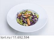 Купить «fresh organic eco vegetable salad,close-up isolated on white», фото № 11692594, снято 26 июня 2019 г. (c) PantherMedia / Фотобанк Лори