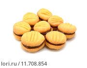Купить «Yo-yo biscuits filled with chocolate», фото № 11708854, снято 21 марта 2019 г. (c) PantherMedia / Фотобанк Лори