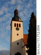 Купить «church steeple rhine dachreiter neuburg», фото № 11712894, снято 20 мая 2019 г. (c) PantherMedia / Фотобанк Лори
