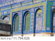 Купить «Architecture details of the facade of the Dome of the Rock mosque at the Temple Mount, Jerusalem, Israel», фото № 11794026, снято 20 августа 2018 г. (c) PantherMedia / Фотобанк Лори