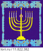 Купить «Hanukkah Greeting Card.», иллюстрация № 11822382 (c) PantherMedia / Фотобанк Лори