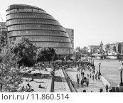 Купить «Black and white GLA City Hall London», фото № 11860514, снято 20 октября 2018 г. (c) PantherMedia / Фотобанк Лори