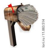 Купить «Mailbox full of money.», фото № 11883514, снято 13 декабря 2018 г. (c) PantherMedia / Фотобанк Лори