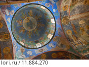 Купить «Знаменитые фрески (12 век) в Спасо-Преображенском соборе  Мирожского монастыря, Псков», фото № 11884270, снято 30 апреля 2015 г. (c) Anna P. / Фотобанк Лори