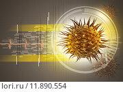 Купить «virus 3d image», фото № 11890554, снято 19 января 2019 г. (c) PantherMedia / Фотобанк Лори