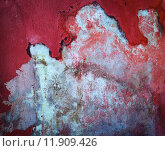 Купить «Wall texture of weathered red paint  peeling off», фото № 11909426, снято 25 июня 2018 г. (c) PantherMedia / Фотобанк Лори