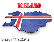 Купить «map illustration of Iceland with flag», иллюстрация № 11932942 (c) PantherMedia / Фотобанк Лори