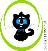 Котёнок Юки (вектор) Стоковая иллюстрация, иллюстратор Александра Лисица / Фотобанк Лори