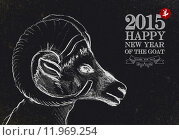 Купить «New year of the Goat 2015 vintage blackboard», иллюстрация № 11969254 (c) PantherMedia / Фотобанк Лори