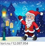 Купить «Santa Claus walk theme 6», иллюстрация № 12097954 (c) PantherMedia / Фотобанк Лори