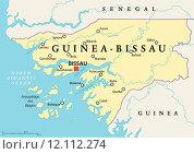 Guinea-Bissau Political Map. Стоковая иллюстрация, иллюстратор Peter Hermes Furian / PantherMedia / Фотобанк Лори