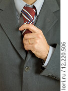Купить «detail of a Business man Suit with colored tie», фото № 12220506, снято 19 июля 2019 г. (c) PantherMedia / Фотобанк Лори