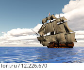 Купить «Old ship HSM Victory - 3D render», фото № 12226670, снято 24 апреля 2018 г. (c) PantherMedia / Фотобанк Лори
